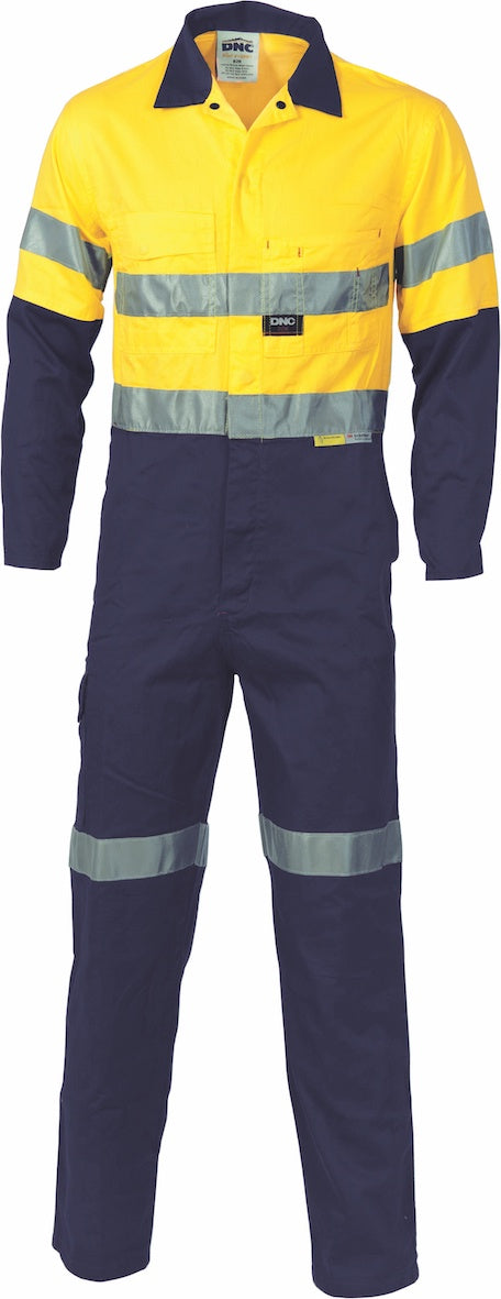 DNC - Hi Vis Light Weight Cotton Drill Overall with 3M Tape