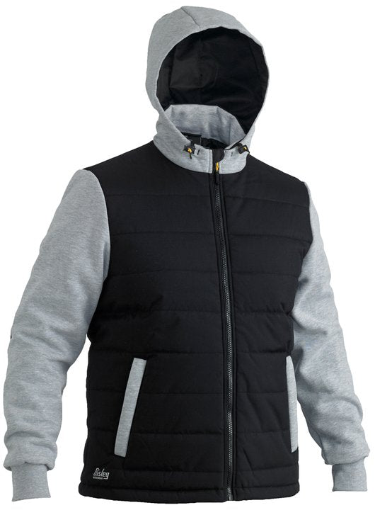 Bisley - FLEX & MOVE™ CONTRAST PUFFER FLEECE HOODIE