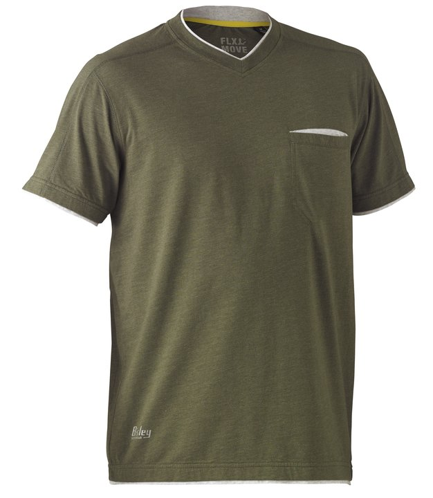 Bisley - FLEX & MOVE™ COTTON RICH HENLEY SHORT SLEEVE TEE