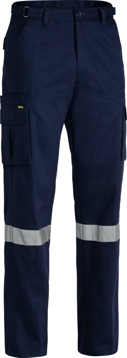 Bisley - BPC6007T -  8 Pocket Cargo Pant with 3M Reflective Tape