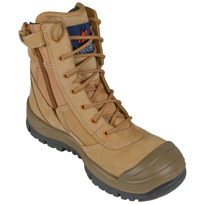 MONGREL 451050 - Zipsider High-Leg Safety Lace up Boot with Zip and Bump Cap
