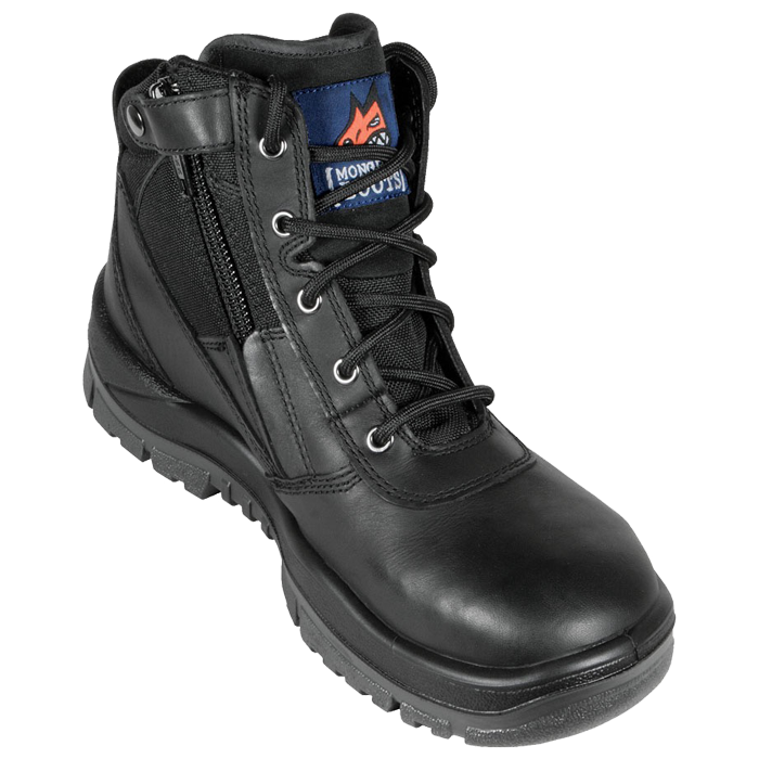 MONGREL 961020 - Zipsider Lace up Boot with Zip (NON-Safety)