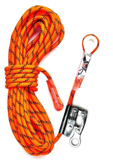 LINQ - RKRG015 - Kernmantle Rope w Thimble Eye & Rope Grab - 15m