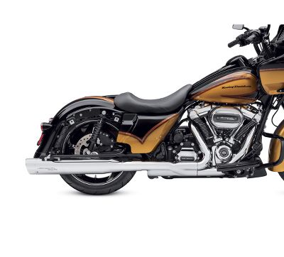 Screamin' Eagle High-Flow Exhaust System with Street Cannon Mufflers- Chrome