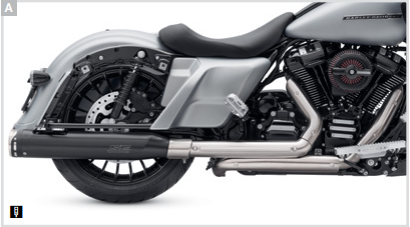Screamin' Eagle High-Flow Exhaust System with Street Cannon Mufflers