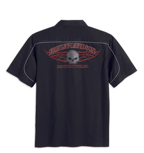Burning Skull Garage Shirt