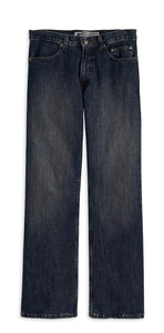 Washed Blue Bootcut Jeans