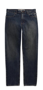 Washed Blue Traditional Fit Jeans