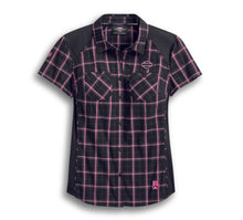 Load image into Gallery viewer, Pink Label Performance Plaid Shirt