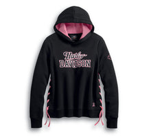 Load image into Gallery viewer, Pink Label Side-Laced Pullover Hoodie