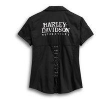 Load image into Gallery viewer, Skull Zip-Front Shirt