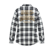 Load image into Gallery viewer, Metallic #1 Skull Buffalo Plaid Shirt