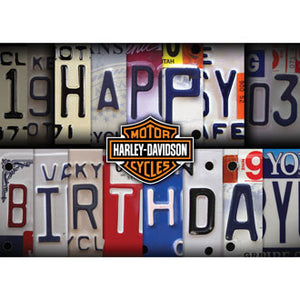 License Plate Birthday Card