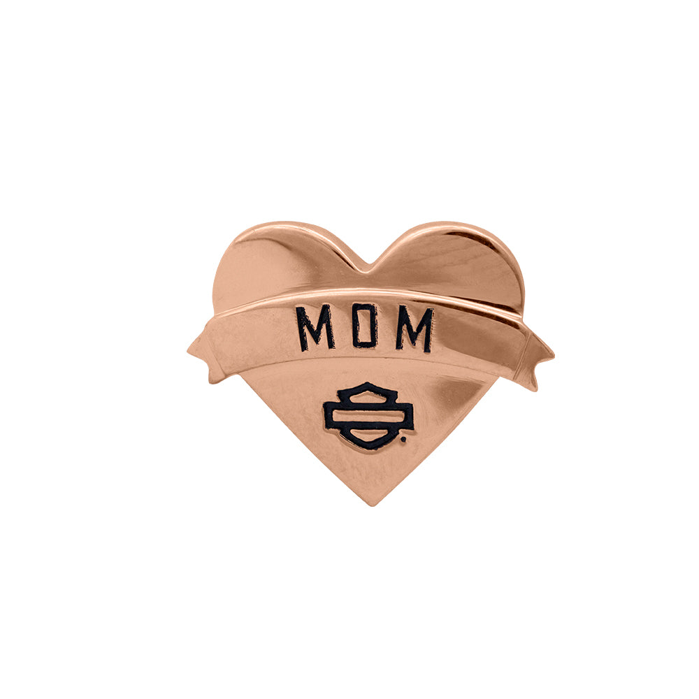 Rose Gold Mom Heart Rally Charm
