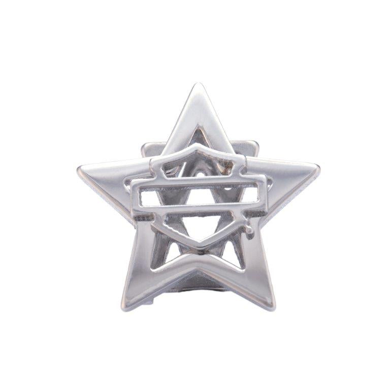 Silver Bar & Shield Star