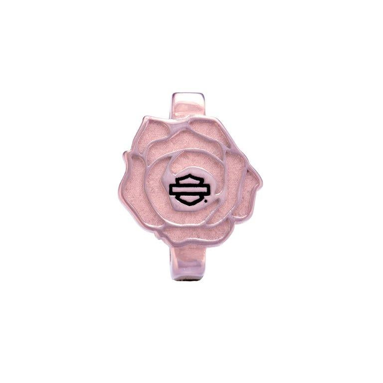 Pink Tone Bar & Shield Rose Rally Charm