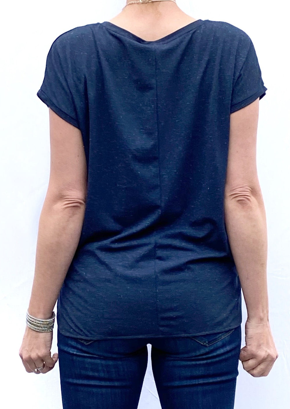 Rebel Short-Sleeved Tee-in-Navy