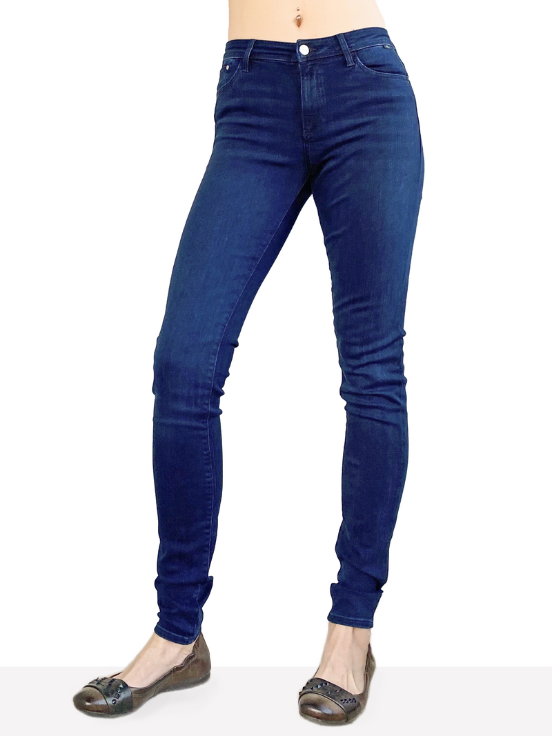 Mavi Alissa - Curvy High Rise Skinny in Ink Chic Supersoft