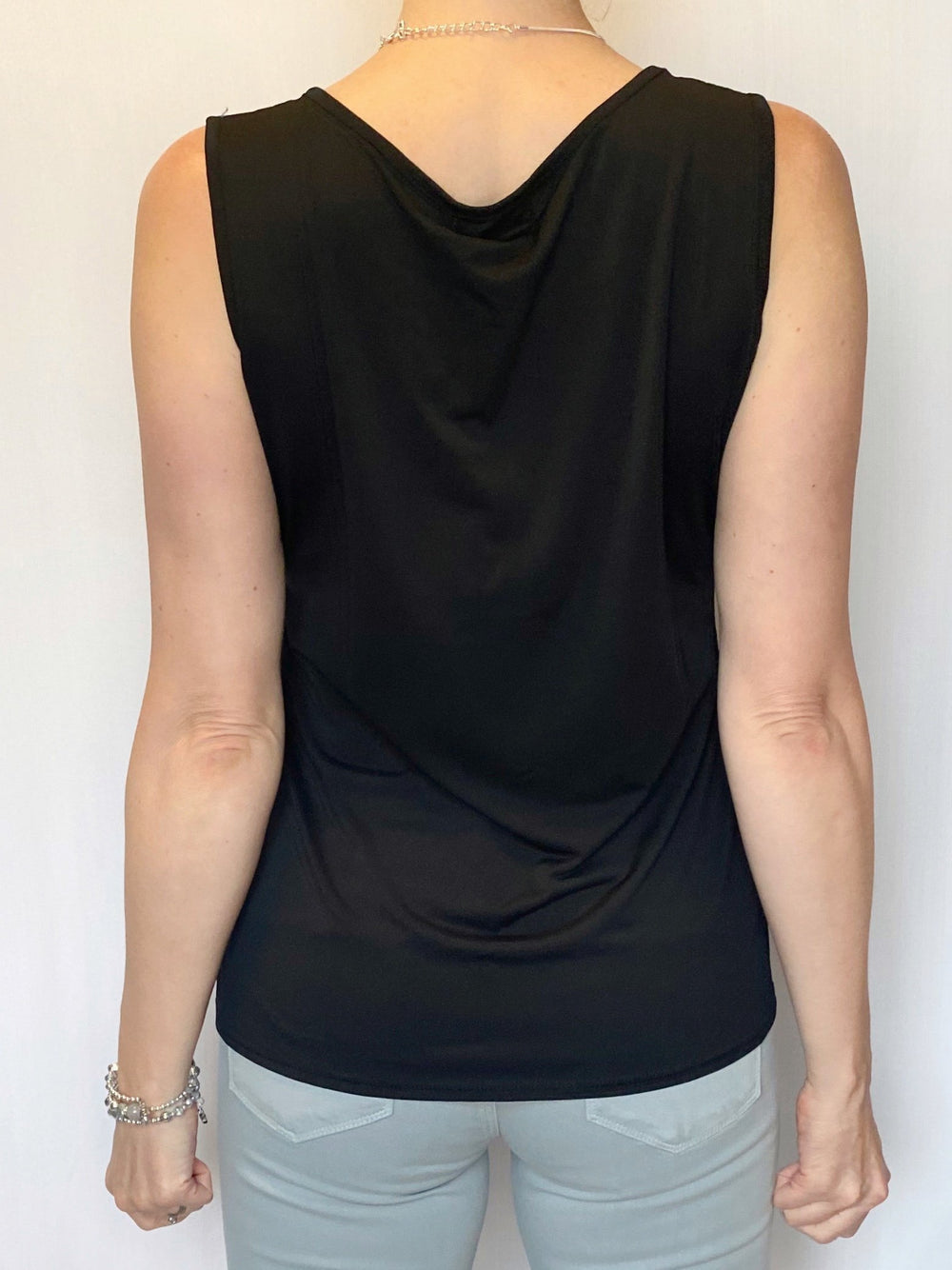 Sleeveless Top with Asymmetrical Detail