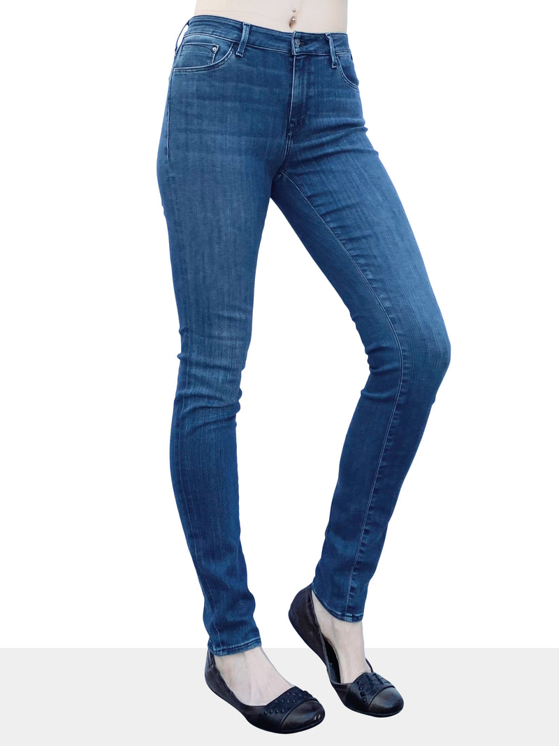 Mavi Tess - High Rise Skinny in Mid Tonal Supersoft