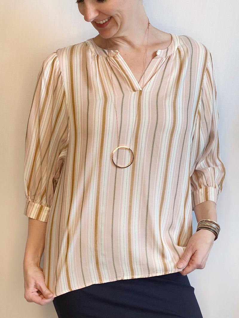 Soyaconcept Premiuim 3/4 Sleeve Striped Blouse