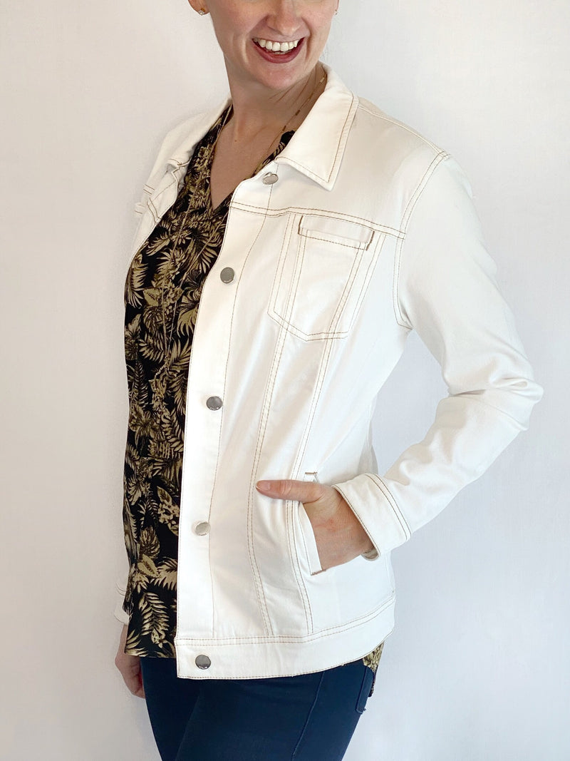 Renuar White Denim Jacket