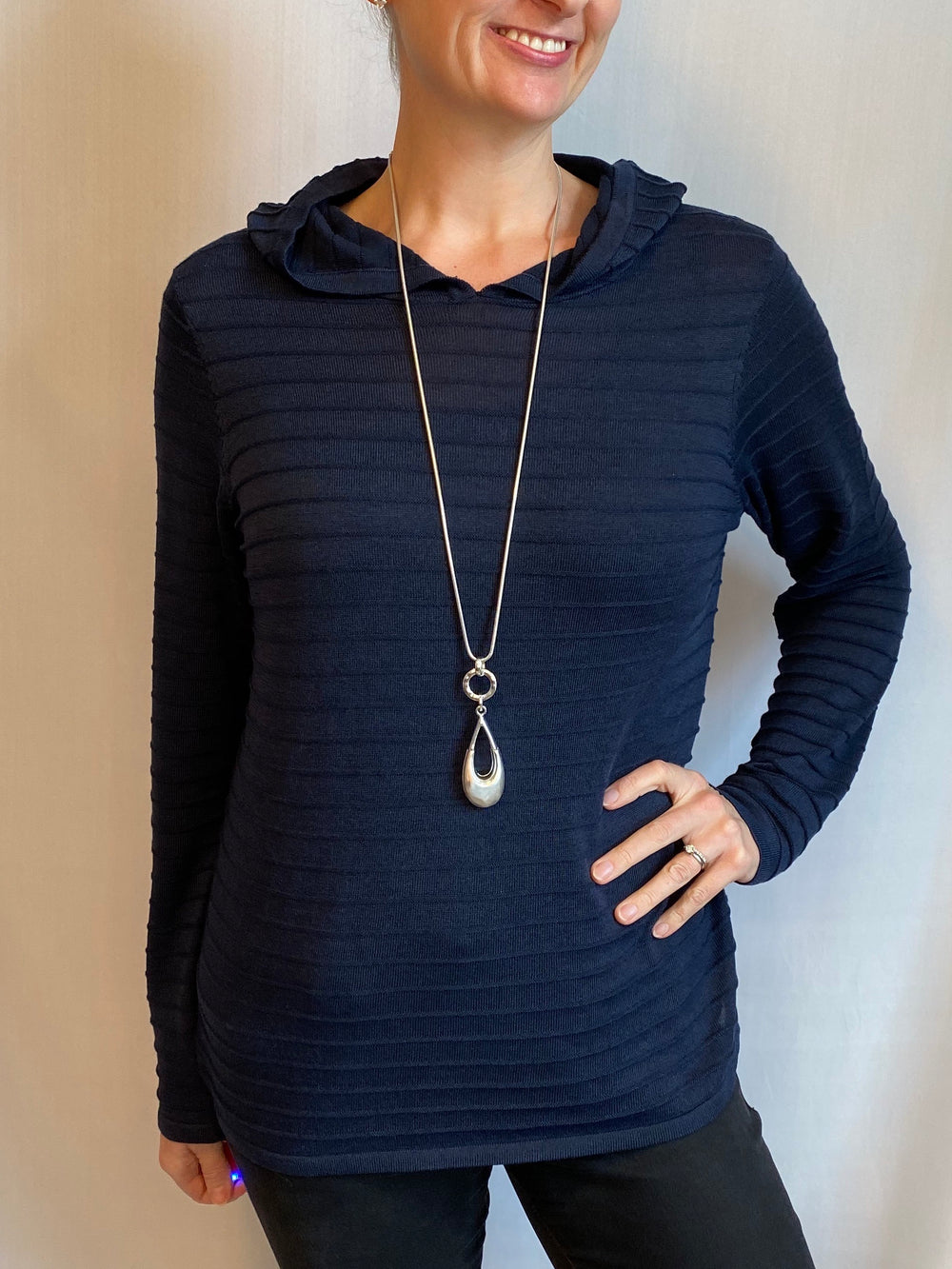 ONESIE! Soyaconcept Hooded Ribbed Sweater