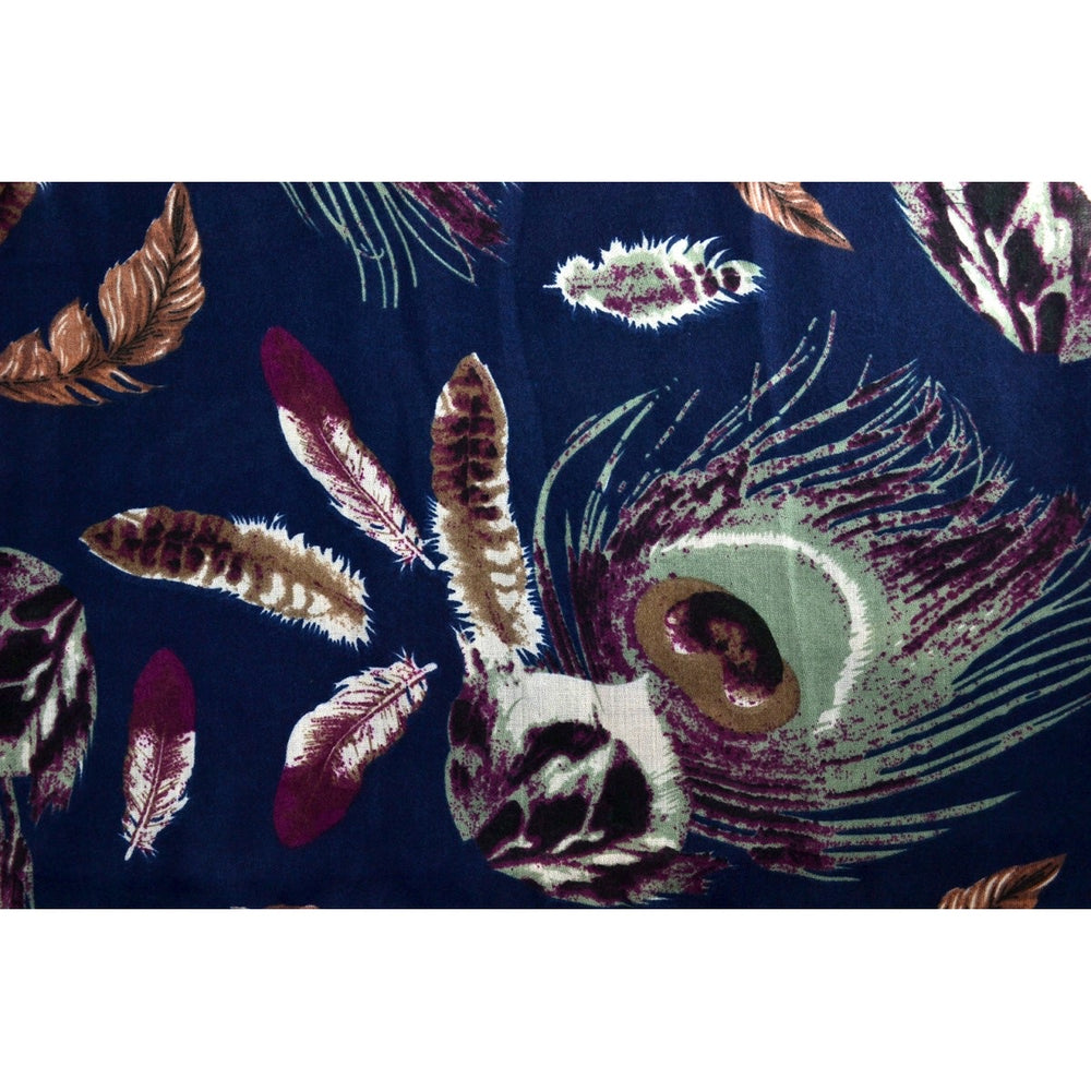 SCARF - Peacock Feather Print