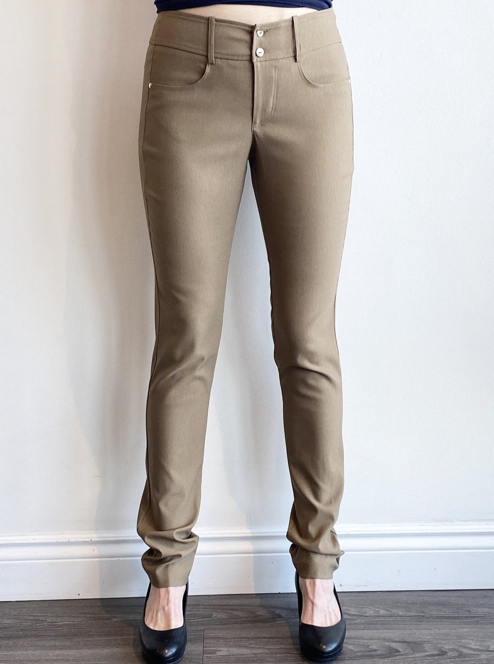 Brenda Beddome Stretch Prada Twill Dress Pants in Taupe