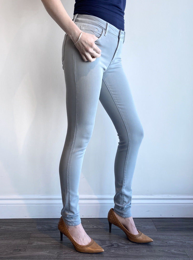 Mavi Tess - High Rise Skinny in Grey Supersoft
