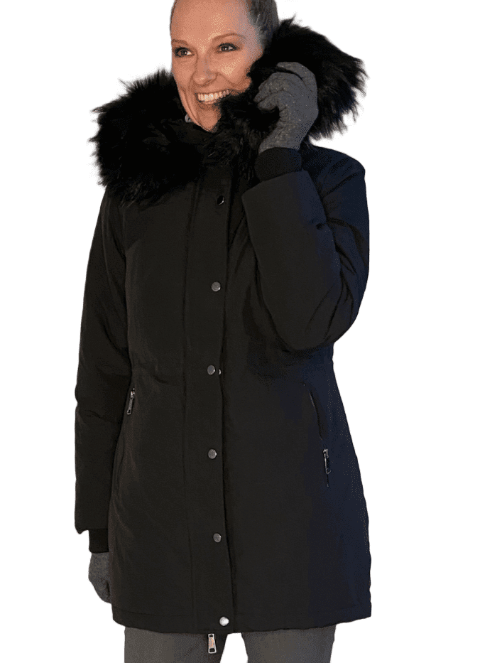 Beata Winter Coat with Extra Long Sleeves