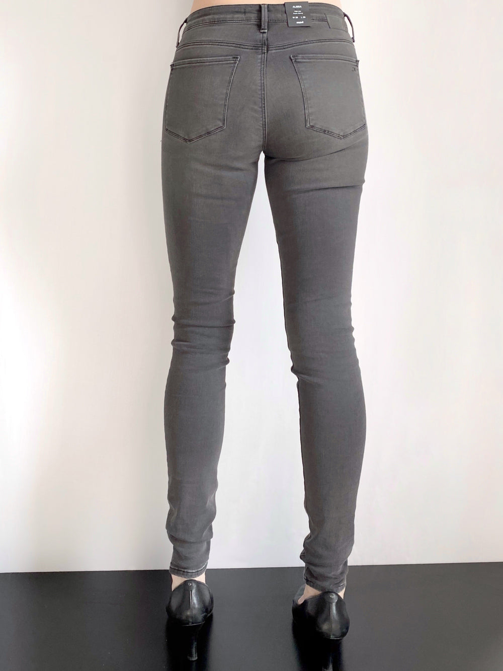 Mavi Alissa - Curvy High Rise Skinny Jeans in Grey