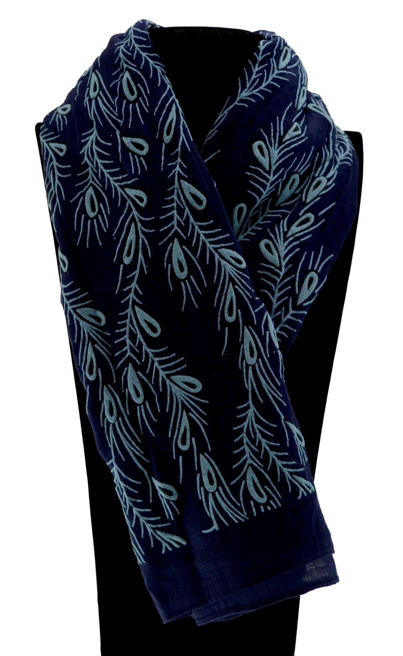 Peacock Feather Print Scarf