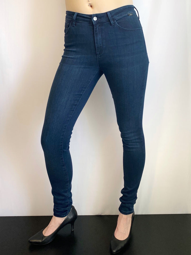 Mavi Alissa - Curvy High Rise Skinny in Dark Midnight Supersoft