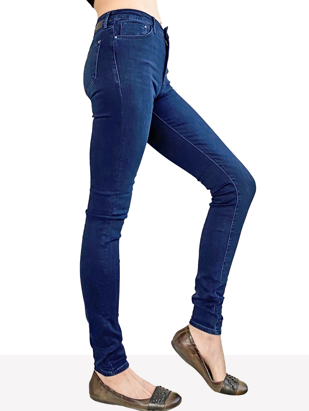 Mavi Scarlett - Ultra High Rise Skinny in Deep Indigo Supersoft