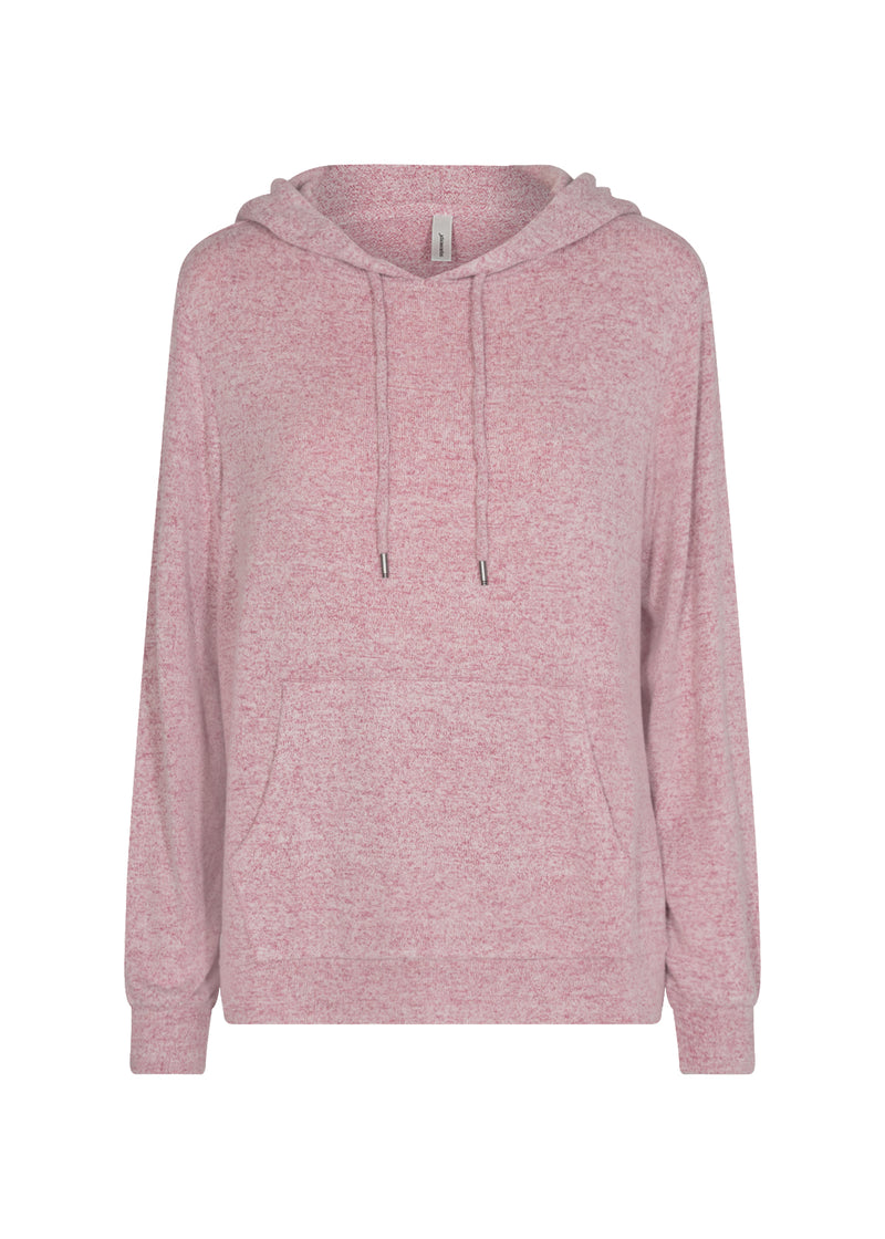 Soyaconcept Super Soft Hoodie in Dark Rose