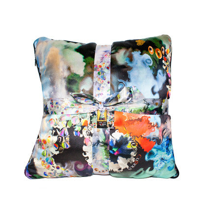 CuRious Print Throw Pillow