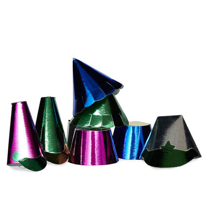 Mini Metallic Party Hats