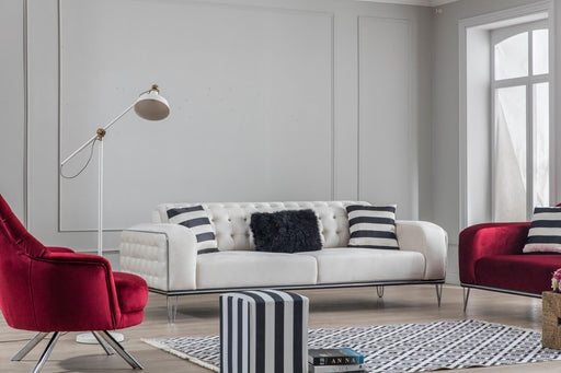 Red White Sofa Bed Set