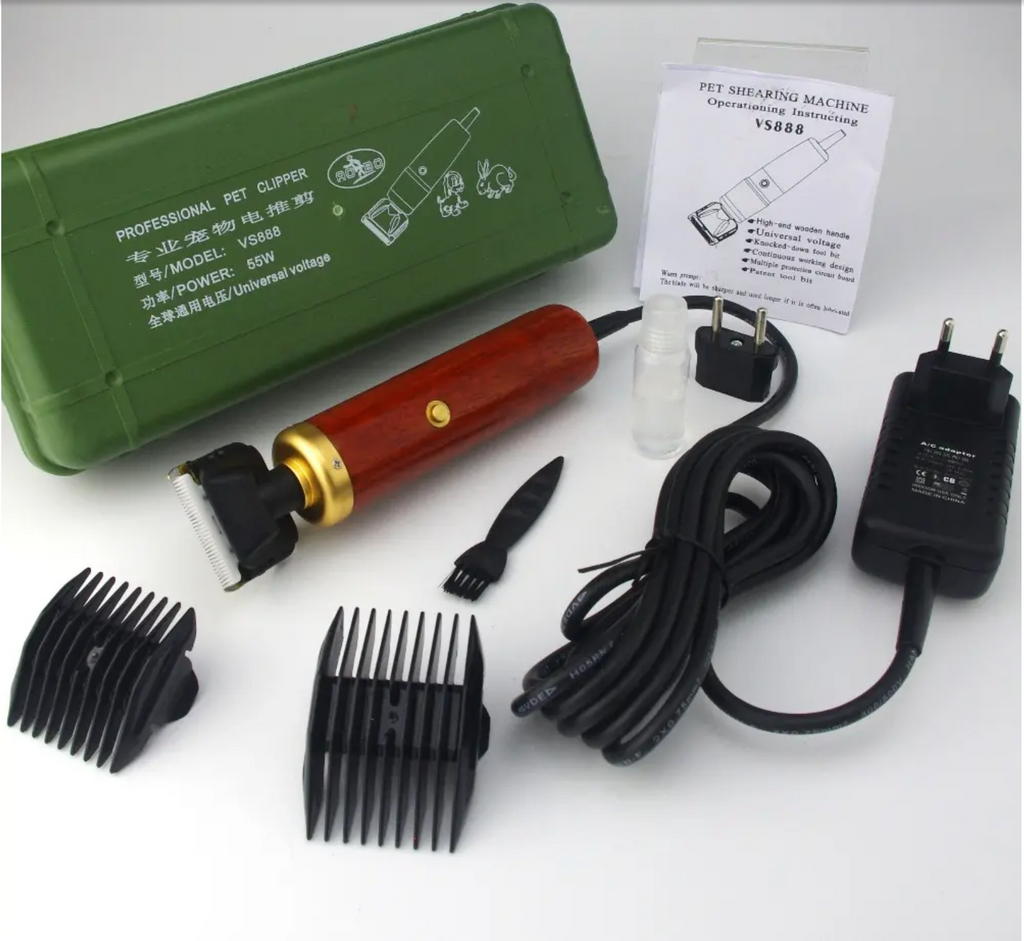 Professional Pet Hair Clipper 55W High Power Grooming Kit for Cats and Dogs