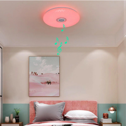 Smart LED Ceiling Light Bluetooth Music Speaker Dimmable Lamp