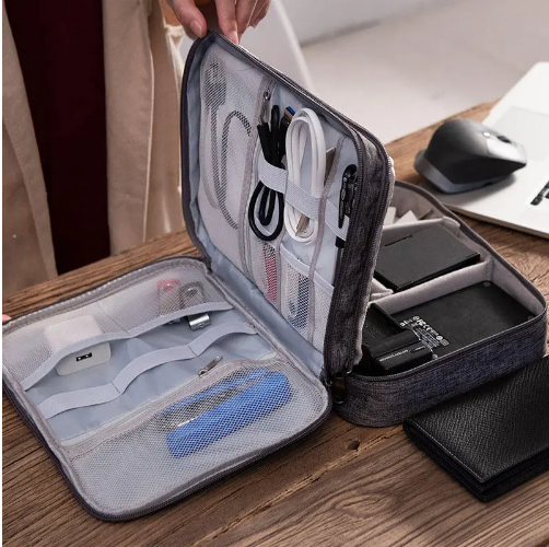 XmundXD - Multifunction Organizer Portable Travel Cable Bag Digital Storage Bag USB Charger Earphone