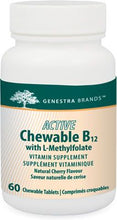Load image into Gallery viewer, Genestra Active Chewable B12 with L-Methylfolate 60 Chewable Tablets