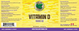 Pure Lab Vitamin D 1000 IU 360 Capsules