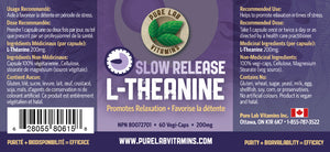 Pure Lab L-Theanine Slow Release 200mg 150 Capsules