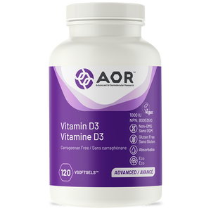 AOR Vitamin D3 – Vegan 120 Soft Gels