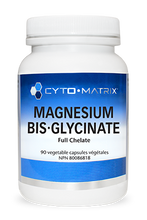 Load image into Gallery viewer, Cytomatrix Magnesium Bis-Glycinate 80mg Full Chelate 90 Capsules