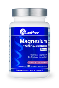 CanPrev Magnesium + GABA & Melatonin for Sleep 120 Capsules
