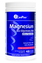 Load image into Gallery viewer, CanPrev Magnesium Bis-Glycinate Drink Mix - Juicy Blueberry 257g