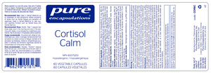 Pure Encapsulations Cortisol Calm 60 Capsules